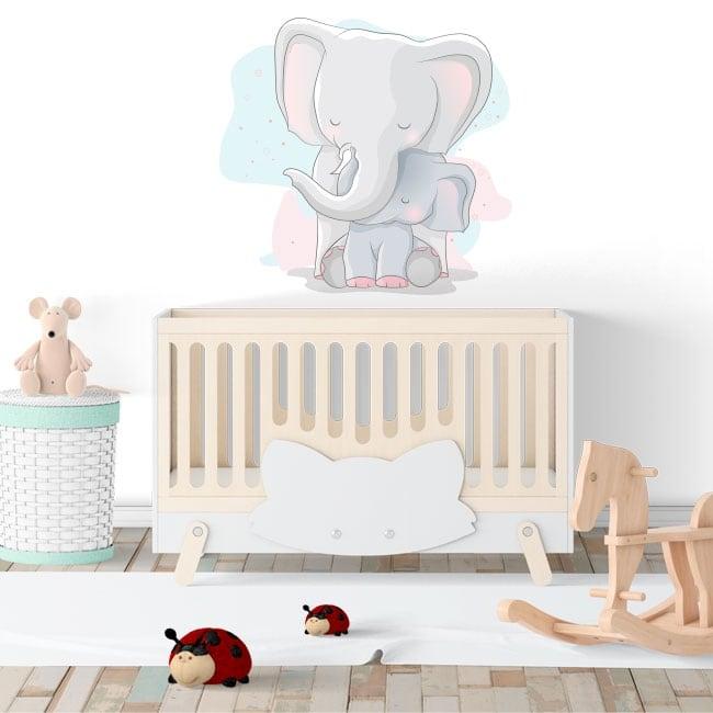 Baby or children's decorative vinyl elephants