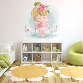Children's decorative vinyl girl with balloons