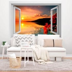 Vinyl windows 3d double sunset