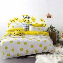 Vinyl headboards beds emoji smile emoticon
