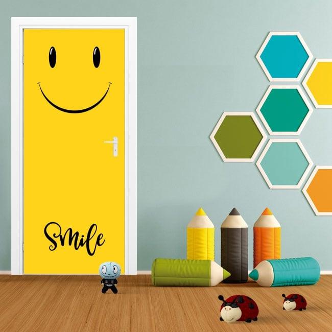 Stickers for doors emoticon smile emoji