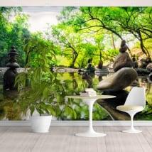 Vinyl wall murals landscape stones meditation zen