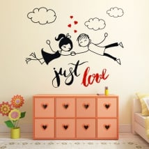 Decorative vinyl and stickers english phrase just love
