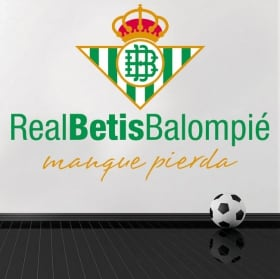 Vinyl football real betis balompié shield