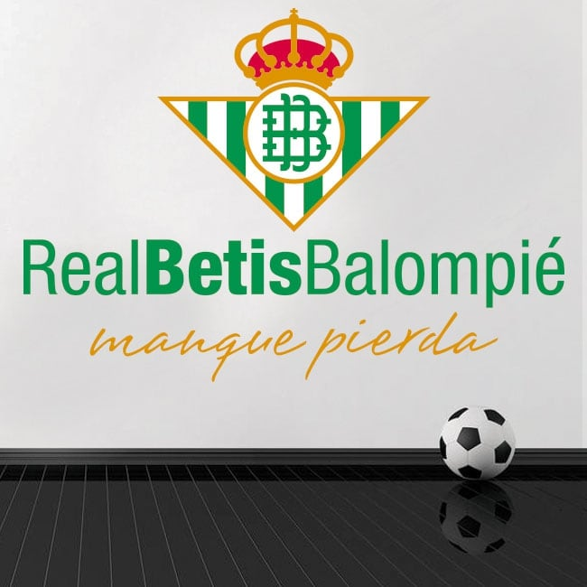 Football vinyl and stickers real betis balompié