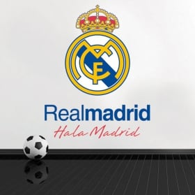 Vinyl football real madrid shield