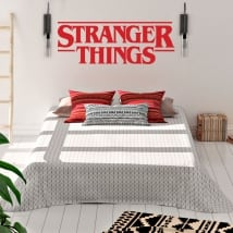 Vinyl and stickers logo tv series stranger things