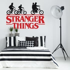 Vinyl and stickers logo tv series stranger things
