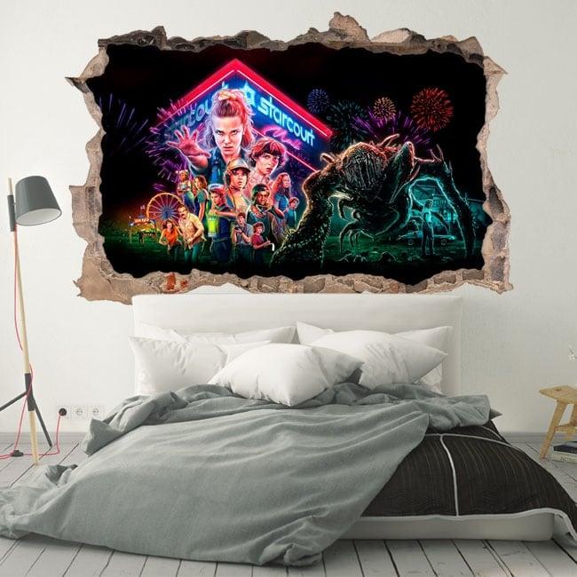 Decorative vinyl 3d netflix series tv stranger things