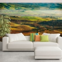 Wall murals of vinyls nature and mountains of tuscany italy