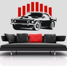 Decorative vinyl or stickers mustang car