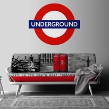 Decorative vinyl underground london subway