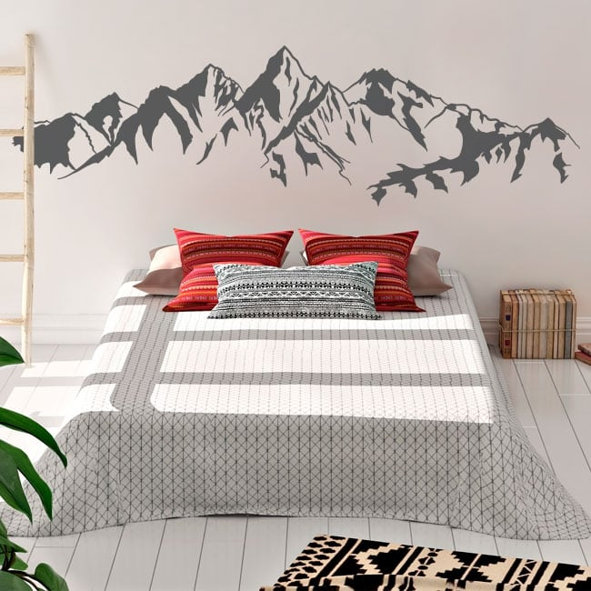 Decorative wall stickers mountains