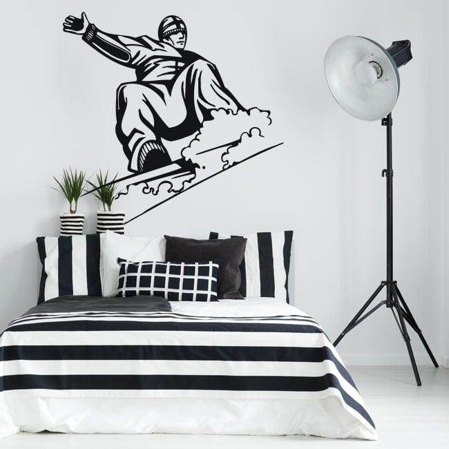 Decorative vinyl and stickers snowboard