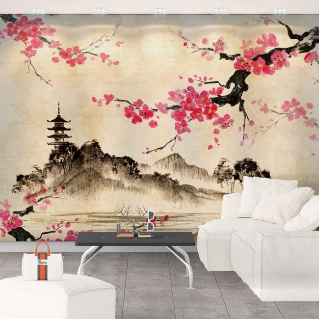 Vinyl murals japanese art