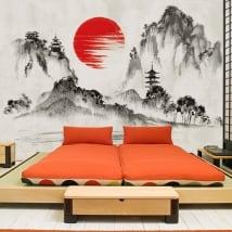 Vinyl murals japan art