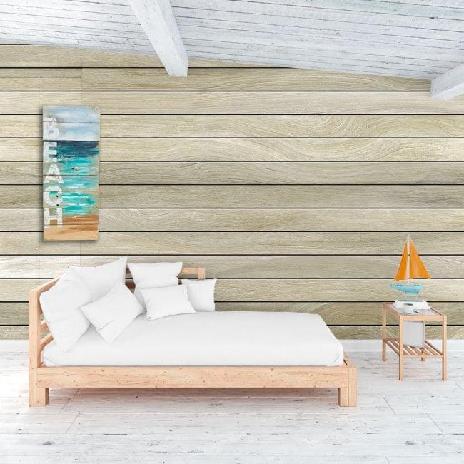 Vinyl murals wood effect