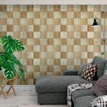 Vinyl murals wooden squares