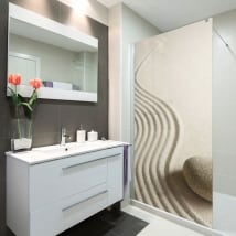 Vinyl bathroom screens zen stone