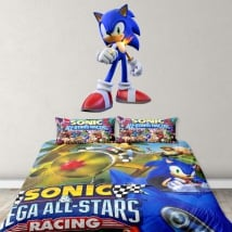 Vinyl and stickers videogame sonic