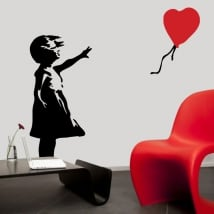Decorative vinyl banksy girl with balloon