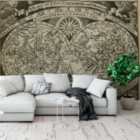 Wall murals astral map zodiac signs