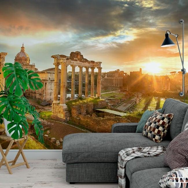 Vinyl murals ruins roman forum italy