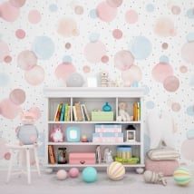 Wall mural watercolor circles
