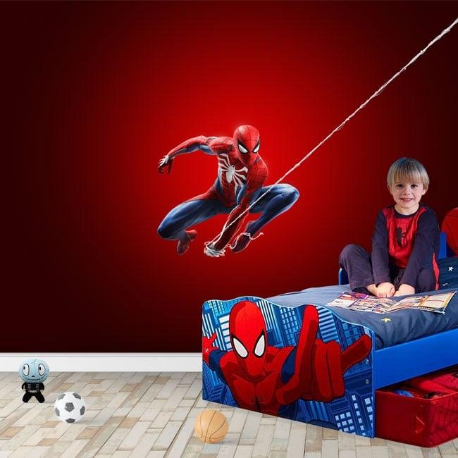 Children or youth murals spiderman marvel