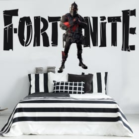 Fortnite black knight wall stickers