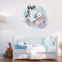 Decorative vinyl children stork for babies