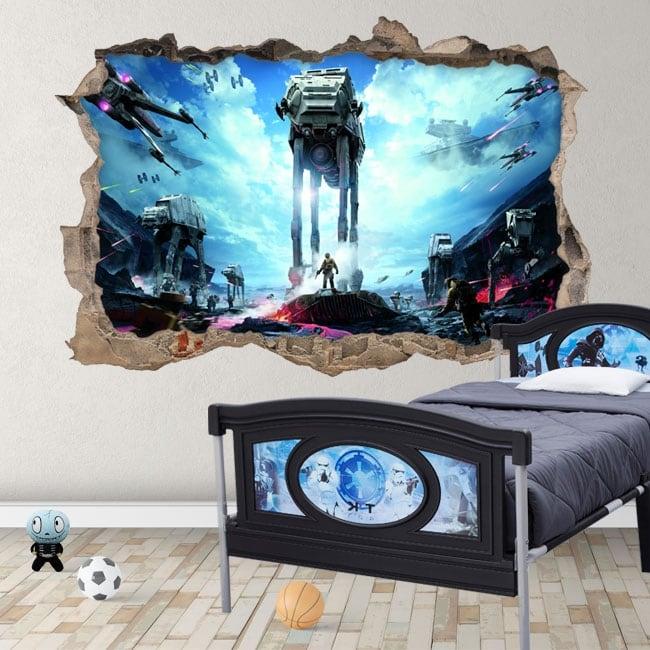 Decorative vinyl and stickers 3d star wars battlefront