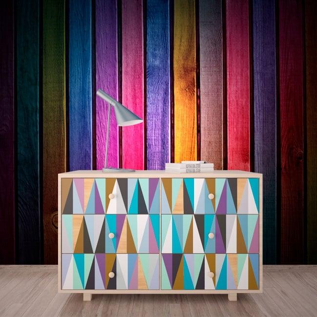 Wall murals multicolored wood imitation