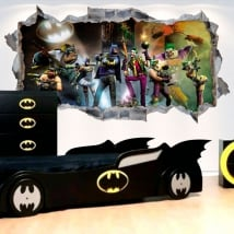 Decorative vinyl 3d batman gotham city impostors