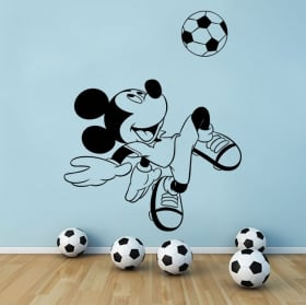 Disney vinyl mickey mouse with soccer ball