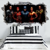 Decorative vinyl and stickers 3d justice league
