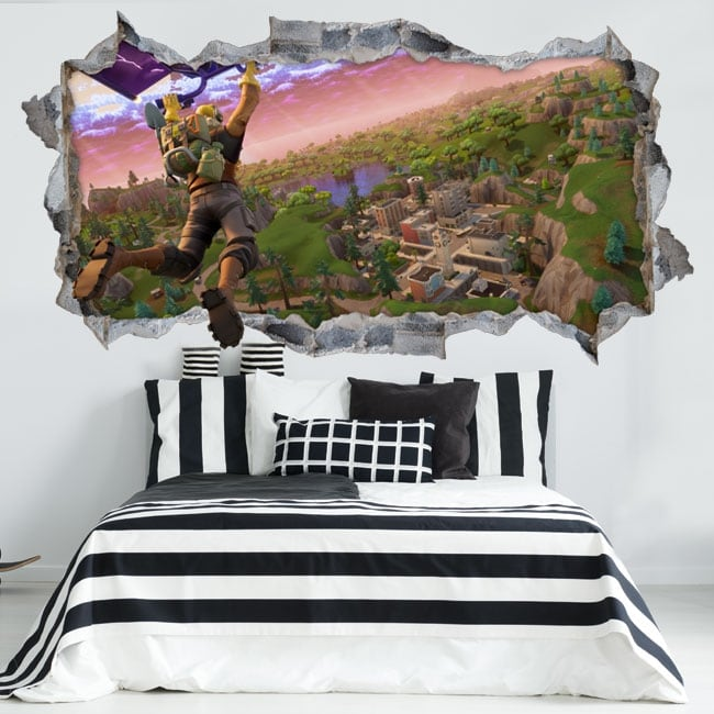 Decorative vinyl and stickers fortnite 3d video game
