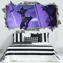 Decorative vinyl fortnite game 3d