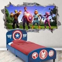 Vinyl video game fortnite avengers 3d