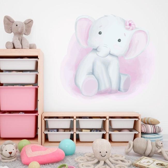 Children's decorative vinyl elephant