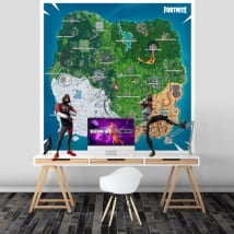 Vinyl and stickers fortnite map
