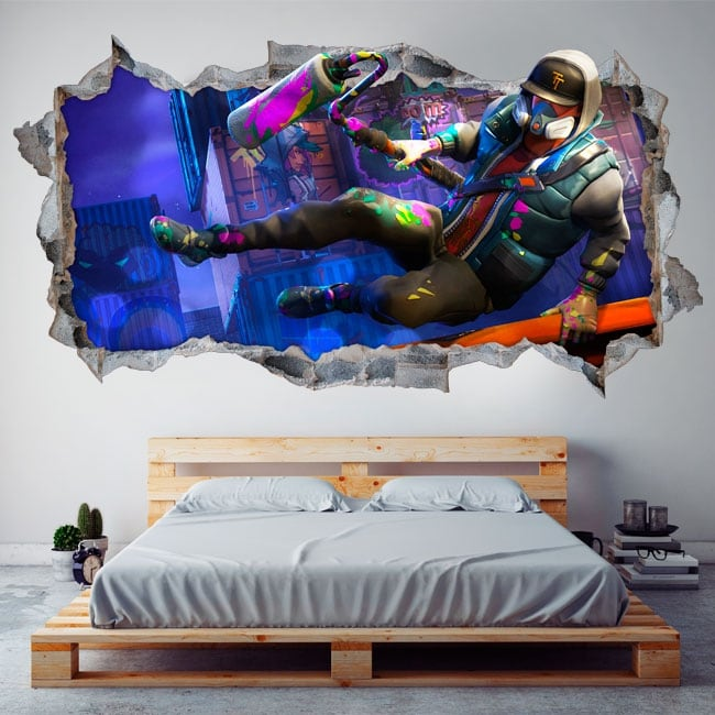 Stickers video game fortnite 3d