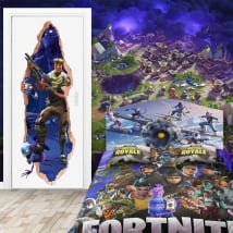 Wall murals 3d map fortnite video game