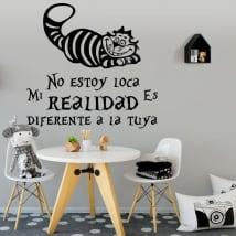 Vinyl cat phrase alice in wonderland