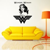 Decorative vinyl and stickers silhouette wonder woman