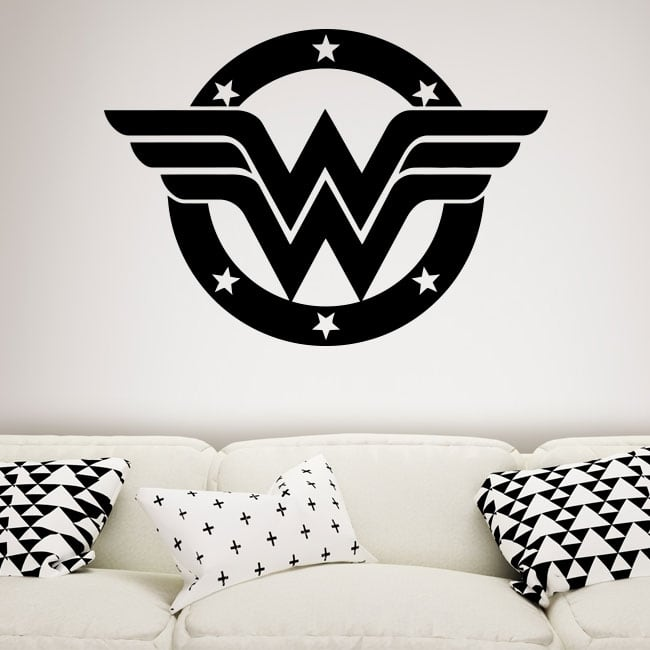 Vinyl and stickers wonder woman shield