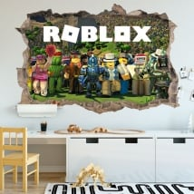 Vinyl stickers videogame roblox 3d