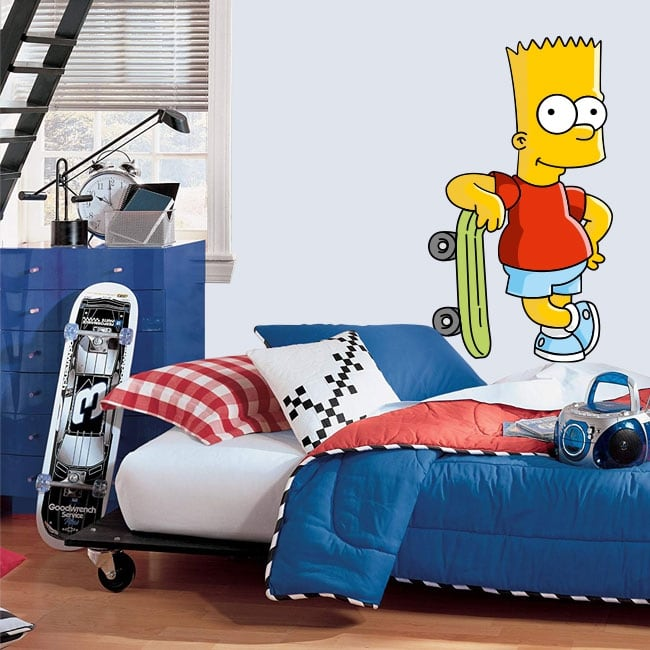 Decorative vinyl and stickers bart simpson