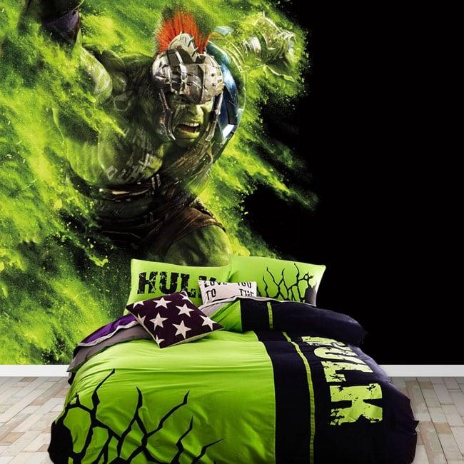 Vinyl murals marvel superhero hulk