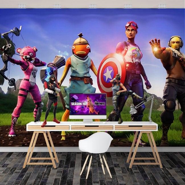 Wall murals the avengers video game fortnite